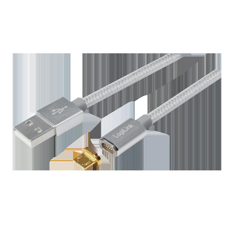 logilink produkt usb daten und ladekabel mit magnetischem micro usb adapter. Black Bedroom Furniture Sets. Home Design Ideas
