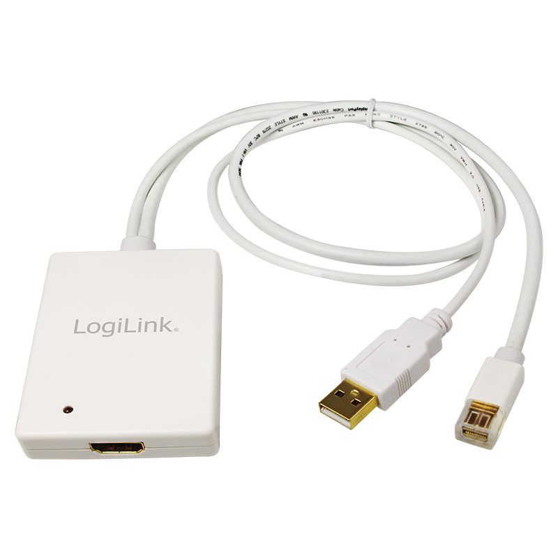 logilink produkt adapter mini displayport usb audio to hdmi. Black Bedroom Furniture Sets. Home Design Ideas