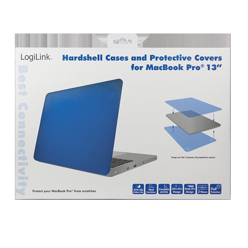 logilink produkt hartschalen schutzh lle f r das macbook pro 13 k nigsblau. Black Bedroom Furniture Sets. Home Design Ideas